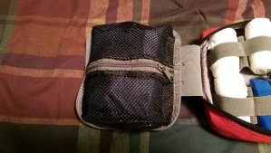 The inside zipped pouch